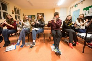 The Music Generation Laois Trad Orchestra working with Martin Tourish on their new composition for 2016. Picture: Alf Harvey/HRPhoto.ie no reproduction fee
